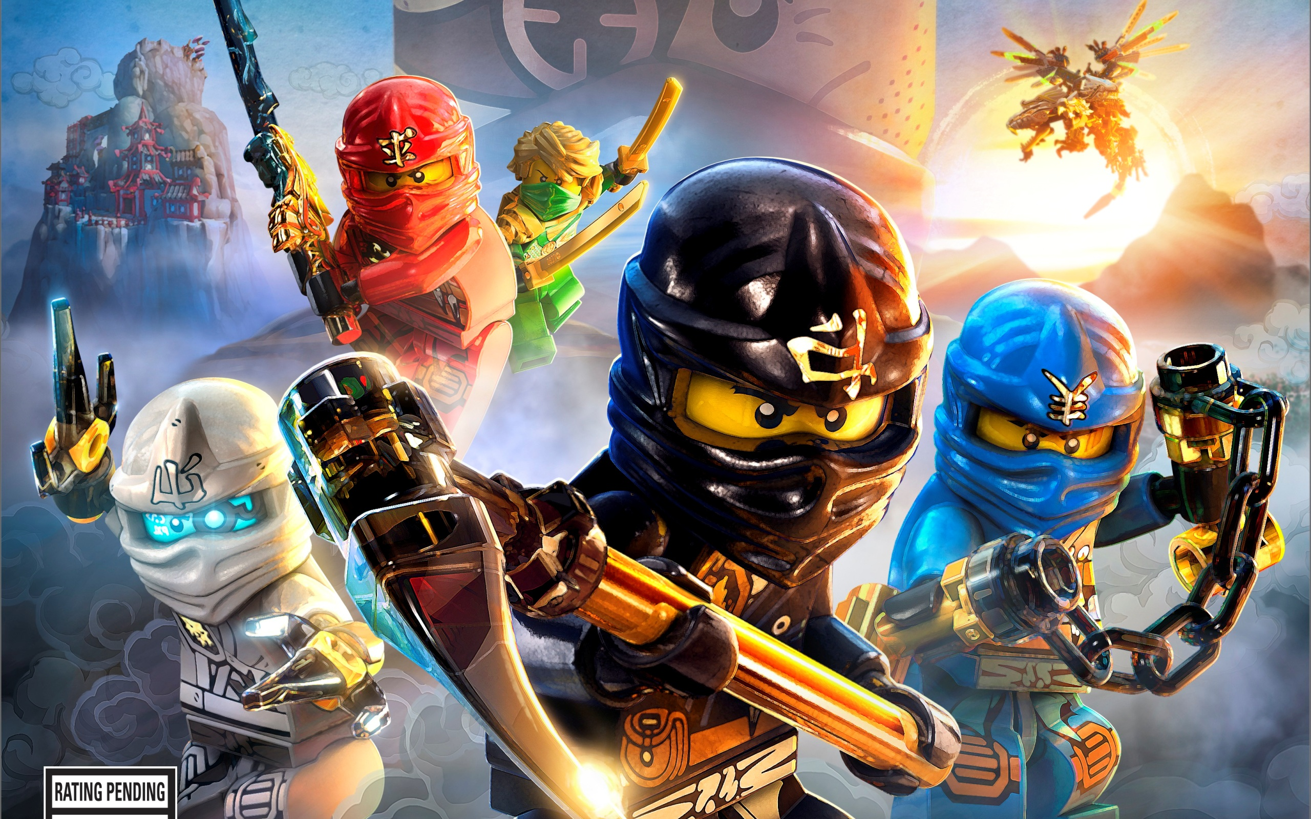 Lego Bedroom Wallpaper Lego Ninjago Wallpaper Wallpapersafari