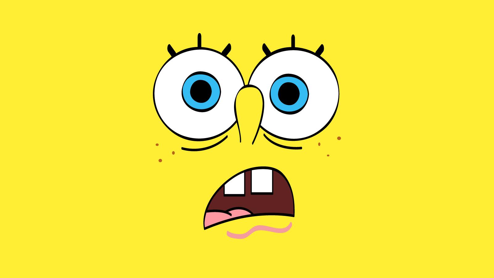 Funny Spongebob Face Hd Wallpapers Backgrounds Ibackgroundzcom 1600x900