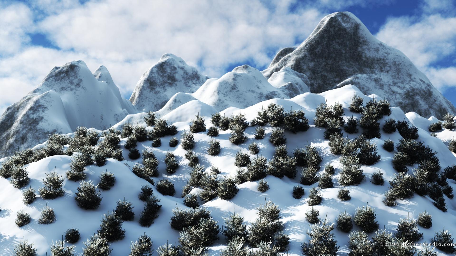 winter mountains wallpaper wallpapers 1920x1080 1920x1080