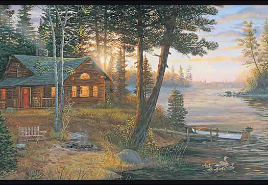 Cabin Fever Wallpaper Border   Wallpaper Border Wallpaper inccom 525x363