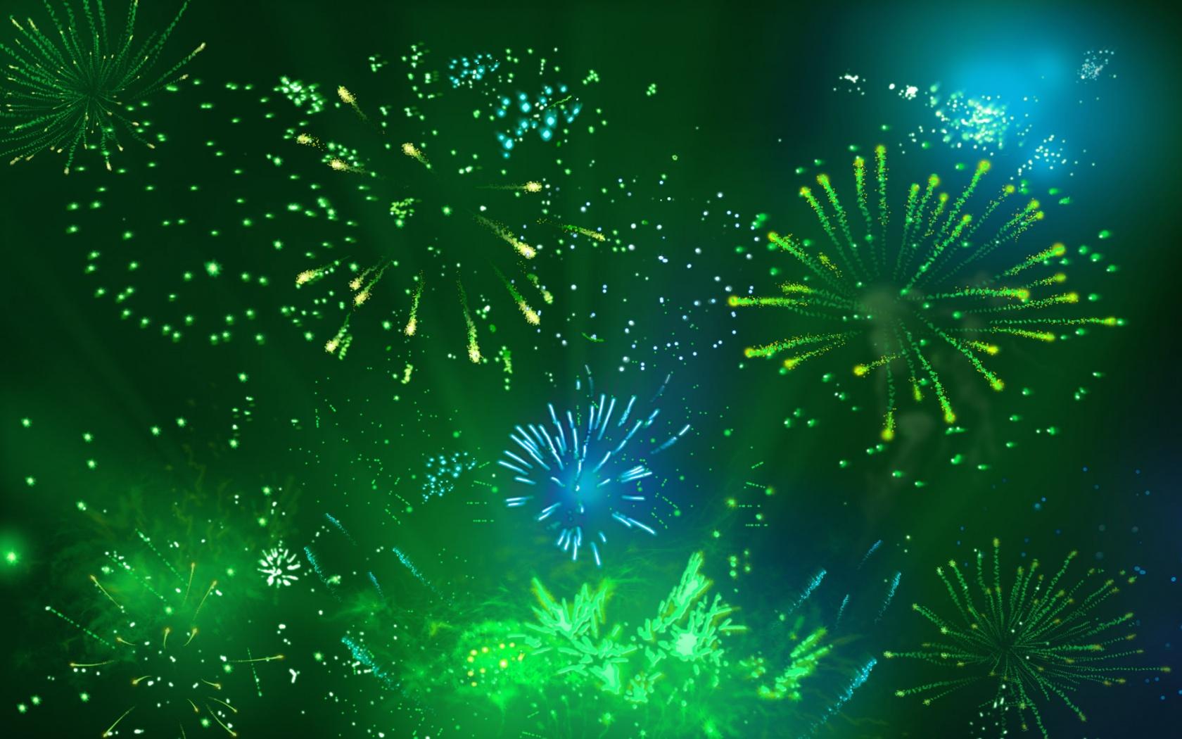 Green Fireworks Google Skins Blue Green Fireworks Google Backgrounds 1680x1050