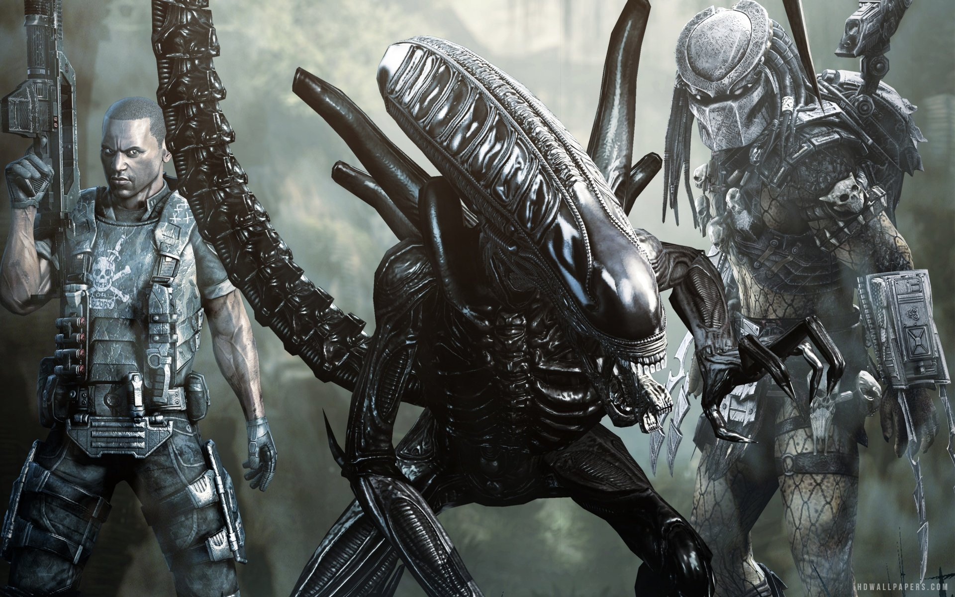 Free Download Aliens Vs Predator Game Hd Wallpaper Ihd Wallpapers