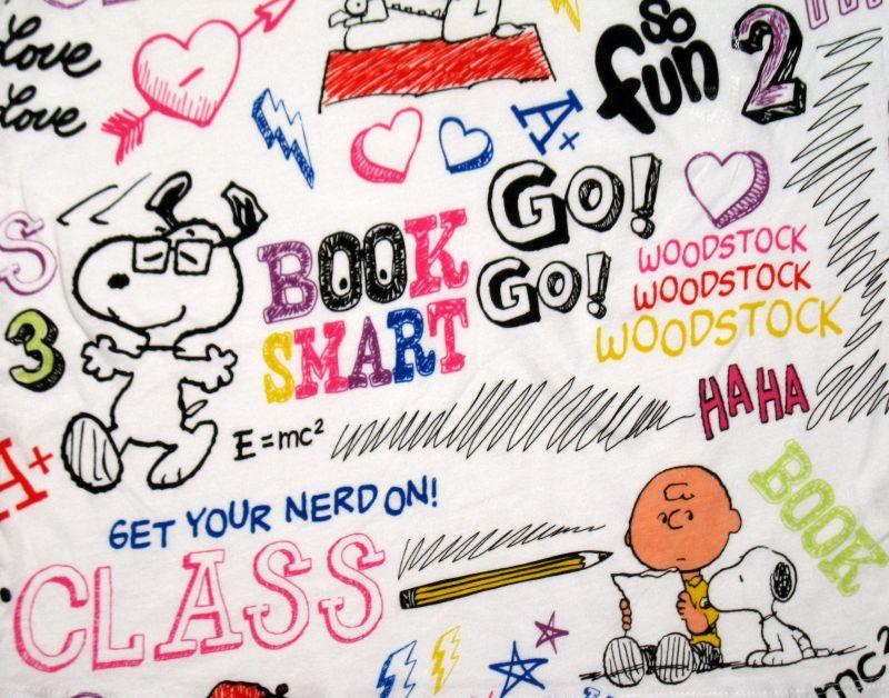 Peanuts Gang Jr V Neck Shirt   Back To School Snoopn4pnutscom 800x628