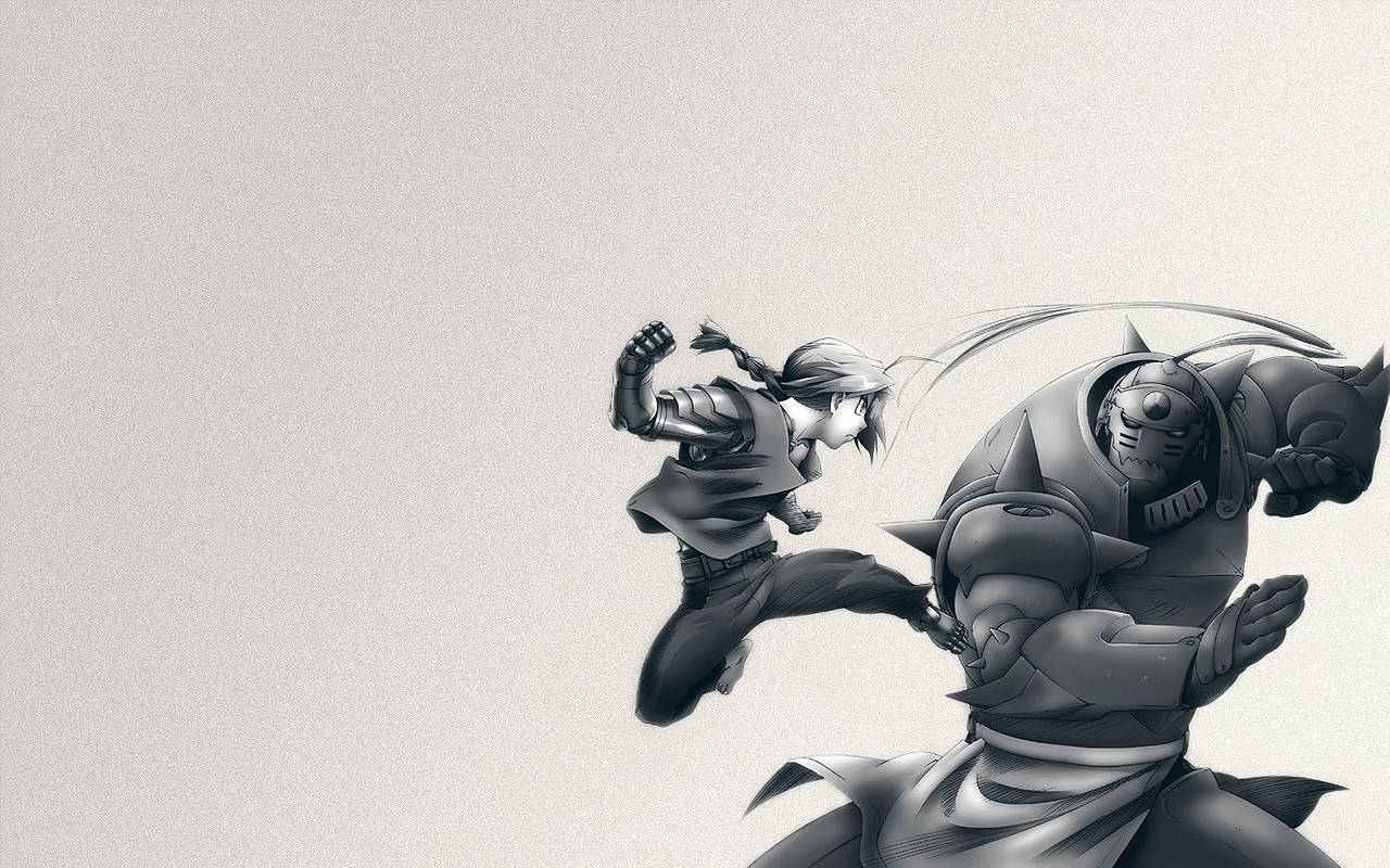 brothers black and white   Full Metal Alchemist Wallpaper 1280x800