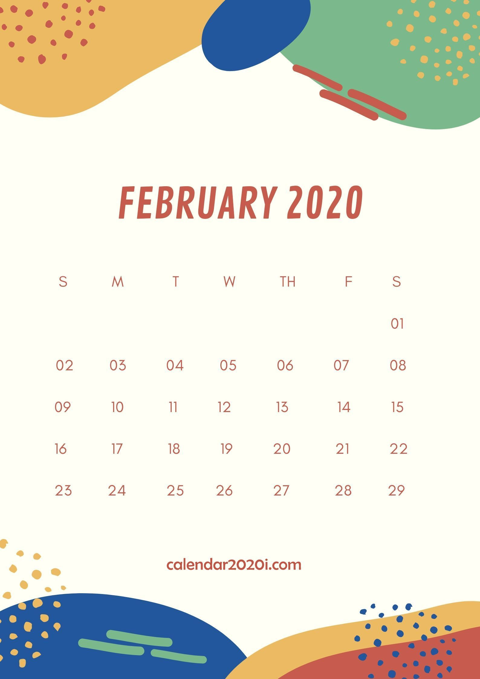 February 2020 Wall Calendar Printable Calendar wallpaper 1588x2246