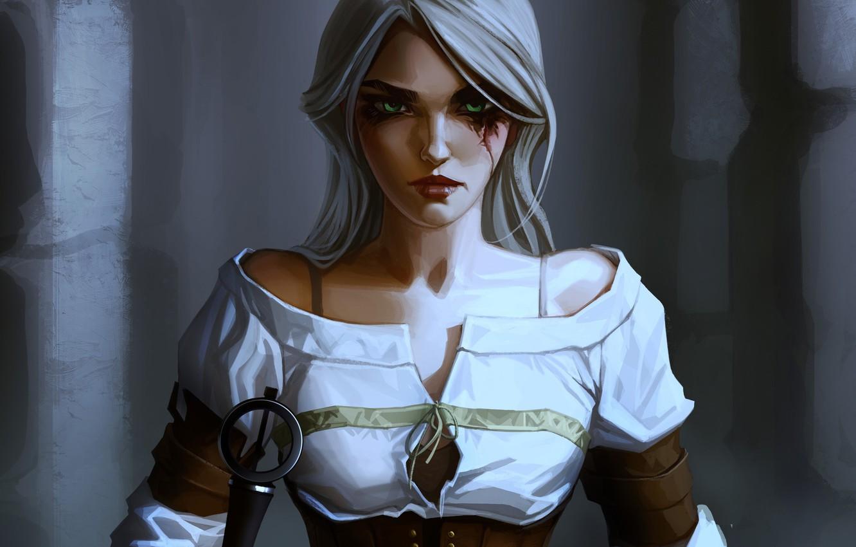 Wallpaper girl art Witcher The Witcher 3 Wild Hunt Ciri 1332x850