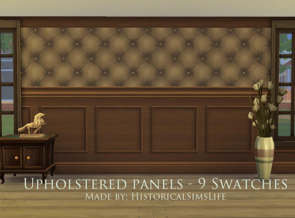 Mod The Sims   Upholstered Panels   Wallpaper Set 988x732