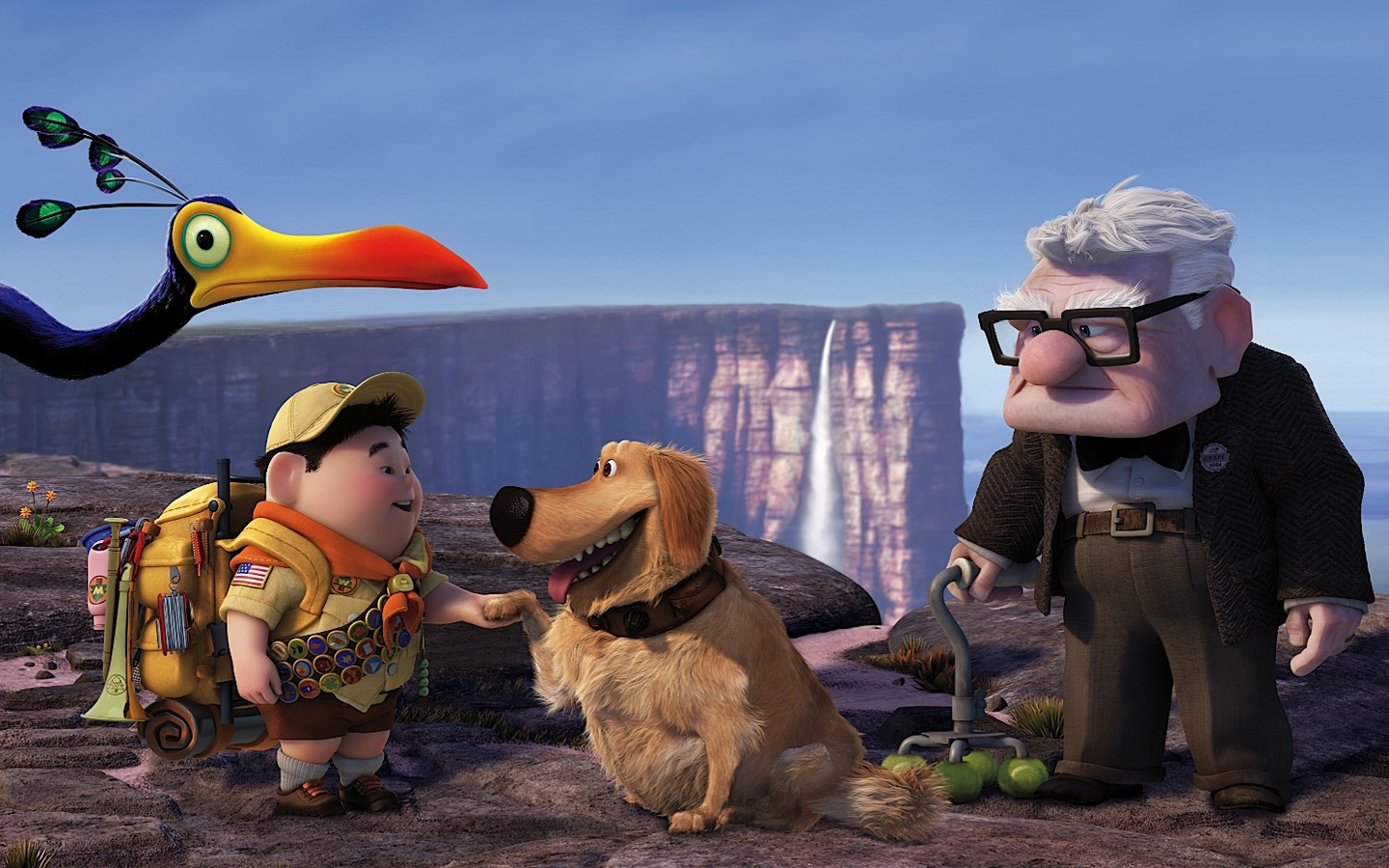 Russell Dug Carl Fredricksen in Pixars UP Wallpapers HD Wallpapers 1440x900