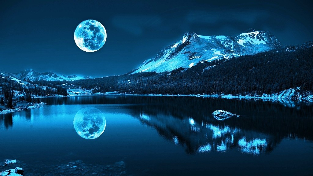 moon over the mountain cool wallpapers share this cool wallpaper on 1024x576
