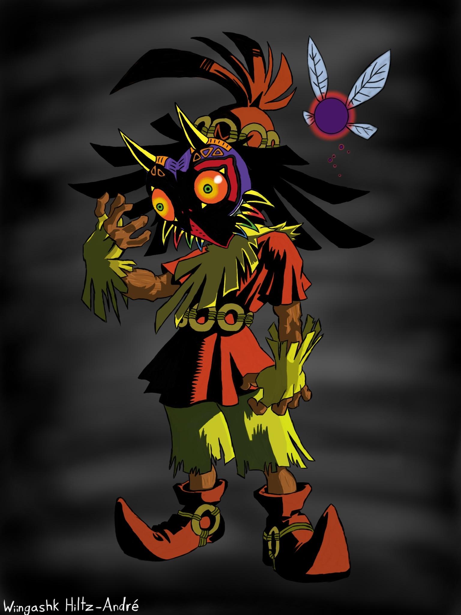 Zelda Majoras Mask Wallpaper Skull Kid Majoras mask s 1536x2048