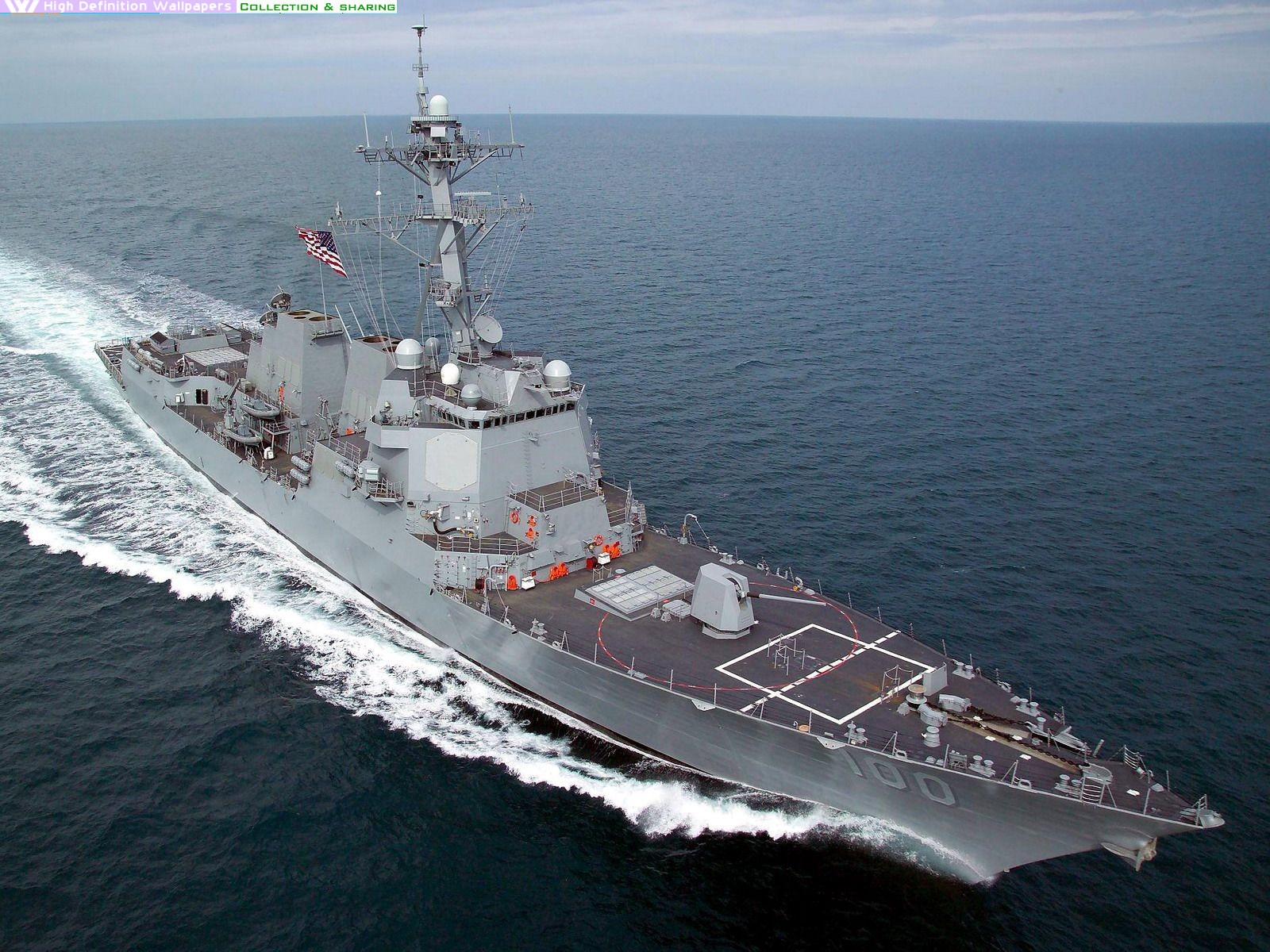 US Navy Arleigh Burke Class Guided Missile Destroyer wallpaper 1600x1200
