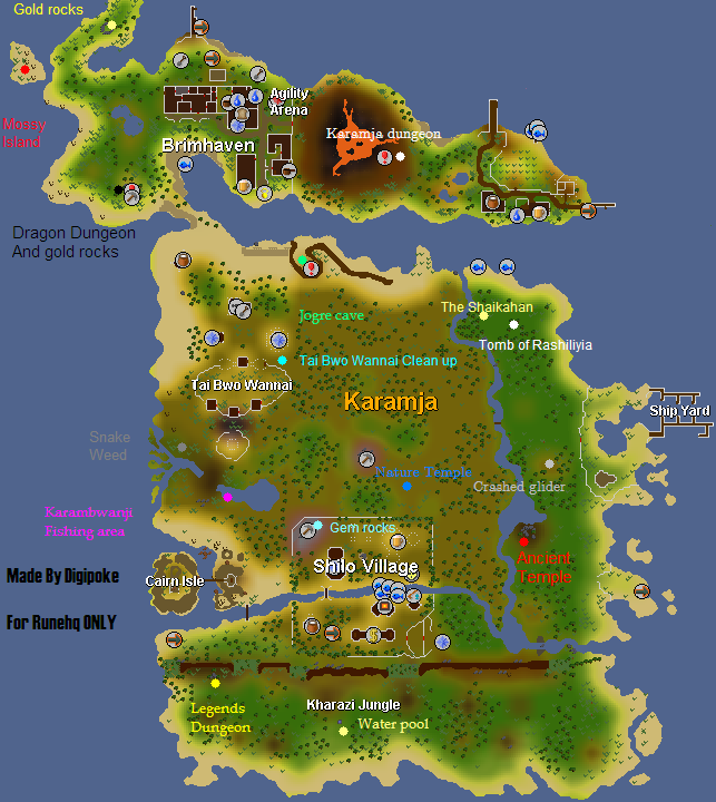 Runescape 2016 Map - Design Templates