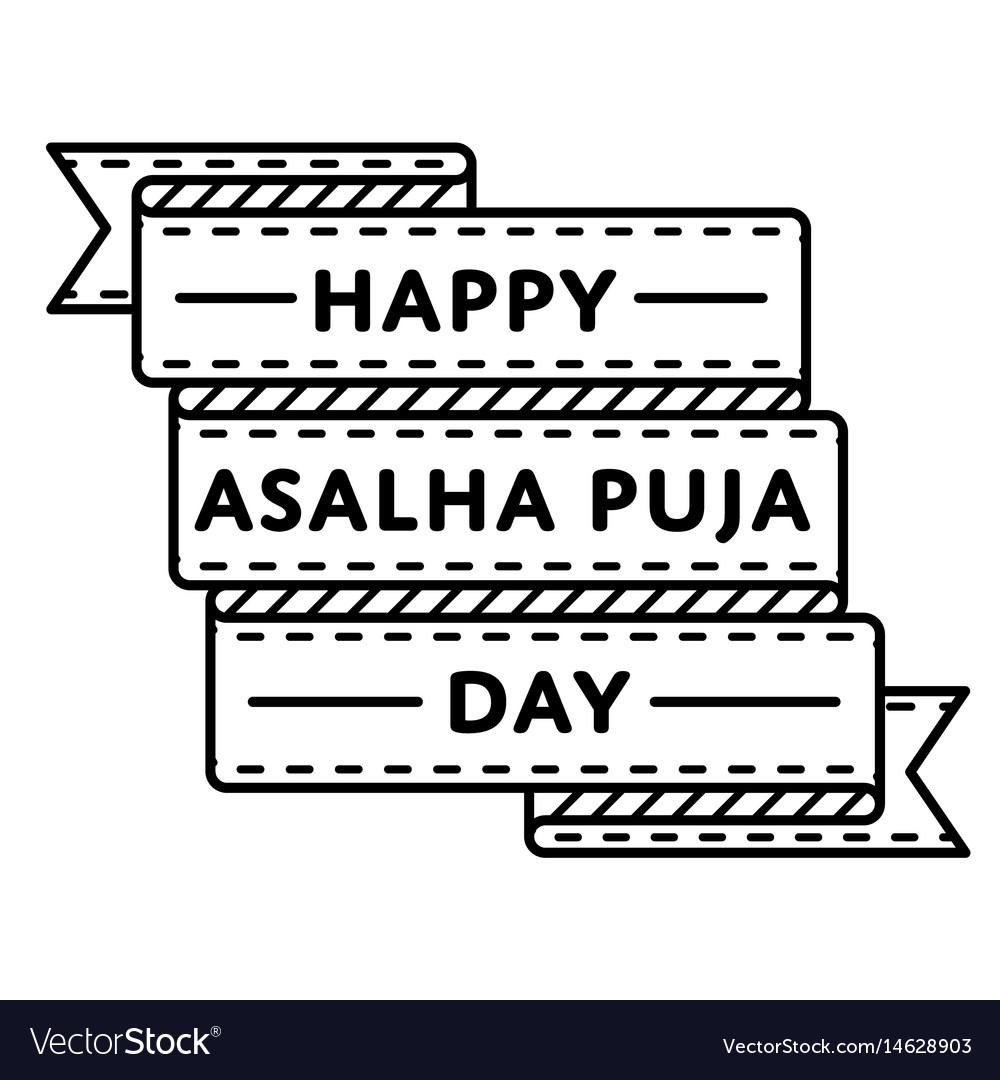 Happy asalha puja day greeting emblem Royalty Vector 1000x1080