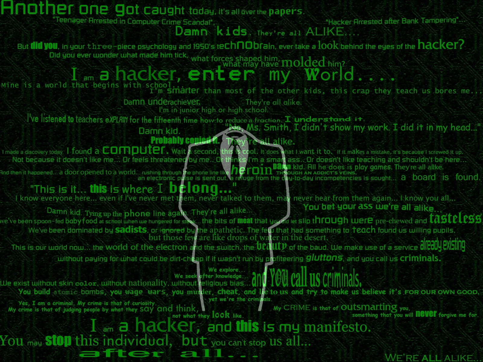 Download Technology Hacker Wallpaper 1600x1200 Wallpoper 1600x1200