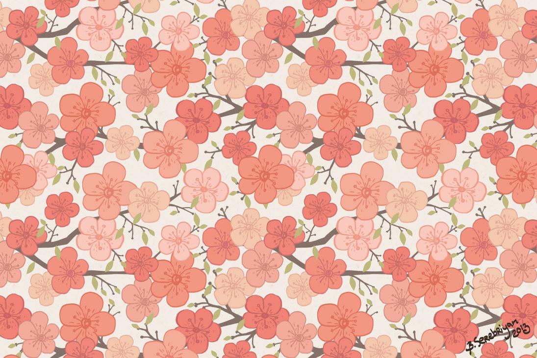 Indie Pattern Tumblr Sakura pattern by bogdana 1095x730