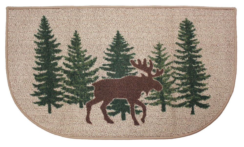 Moose Hearth Rug Lodge Log Cabin Pine Tree Fireplace Scarbrough 1000x604