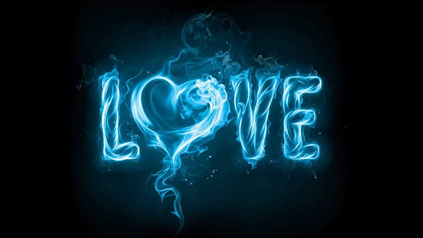 Blue smoke love wallpapers creative smoke hd image creative smoke love 1366x768