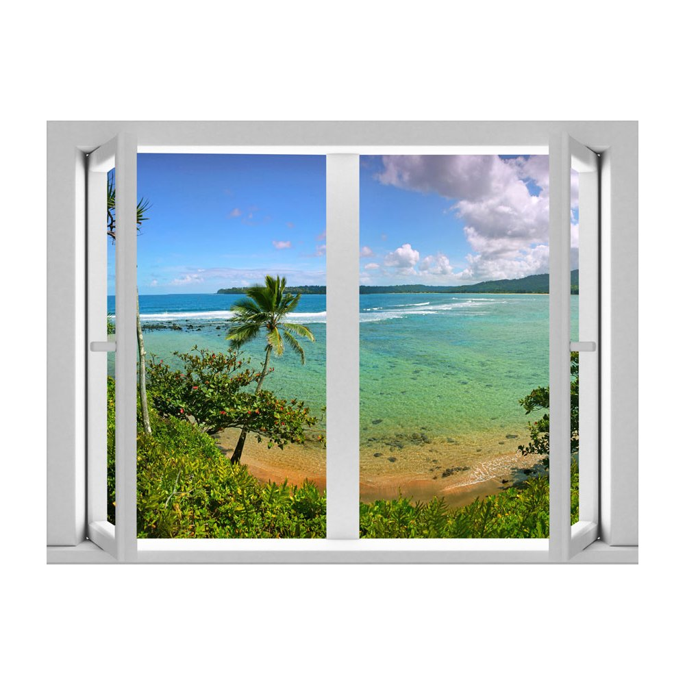 Oasis Beach Peel and Stick Removable Wall Decal Mural Lowes Canada 1000x1000