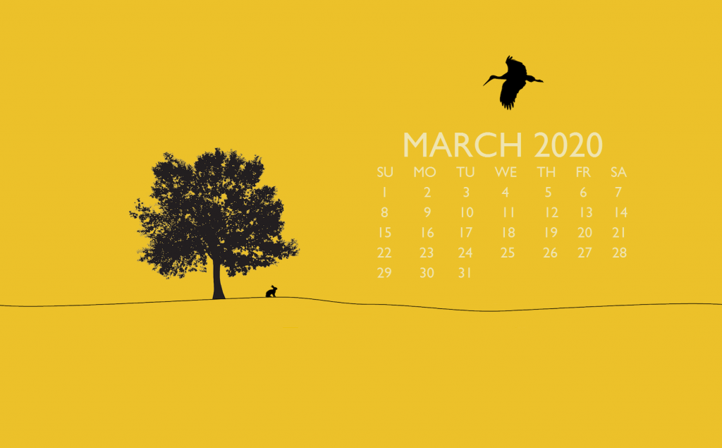 March 2020 Laptop Background Wallpaper Calendar wallpaper Photo 1024x635