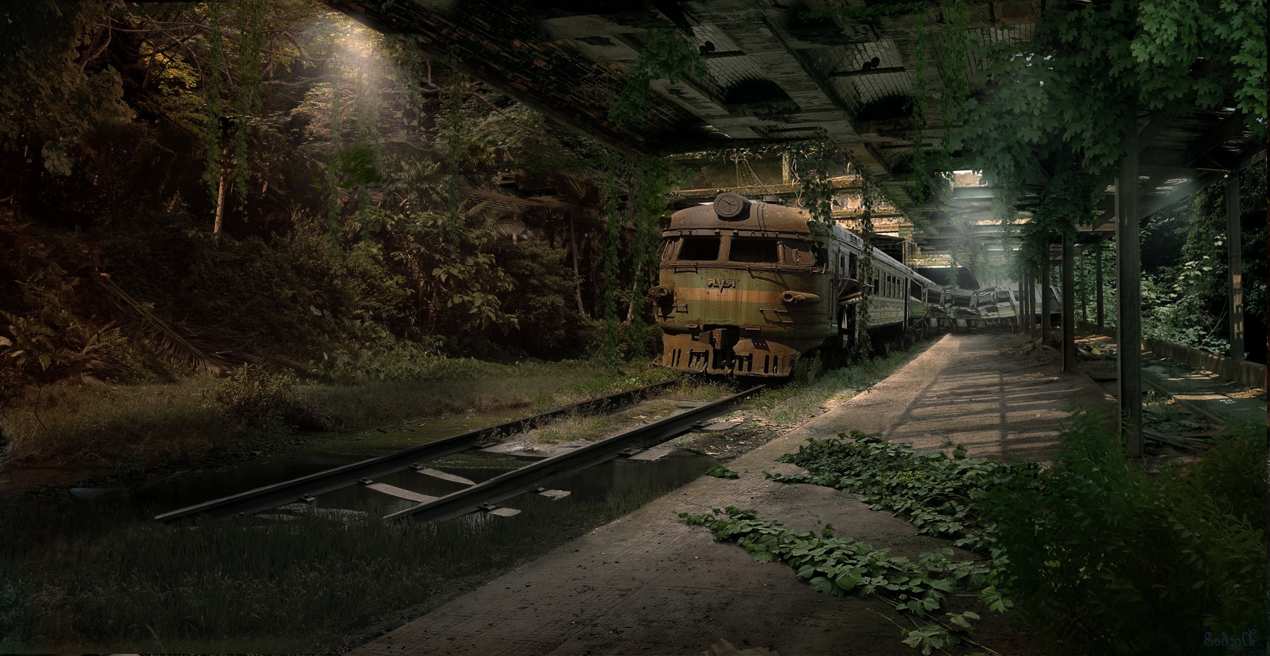 65 Train Desktop Wallpapers on WallpaperPlay 2486x1285