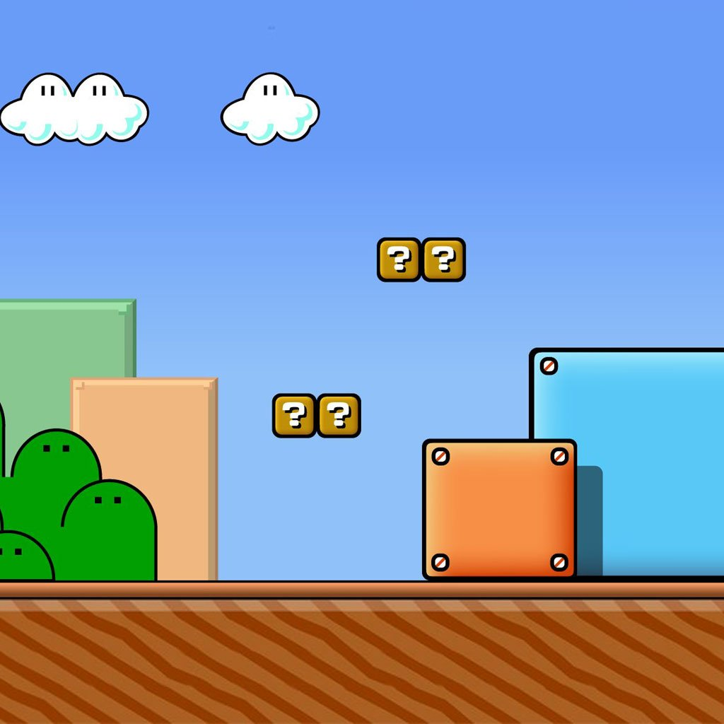 Free Download Super Mario Bros Brick Wallpaper 1024x1024 For