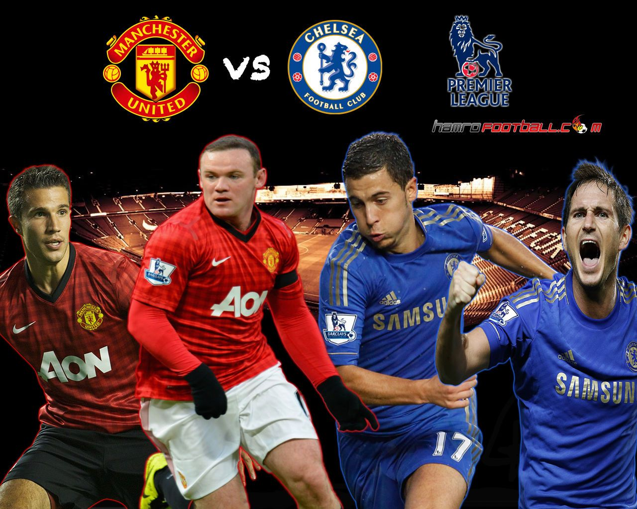 Manchester United Vs Chelsea 2012 2013 HD Best Wallpapers 1280x1024