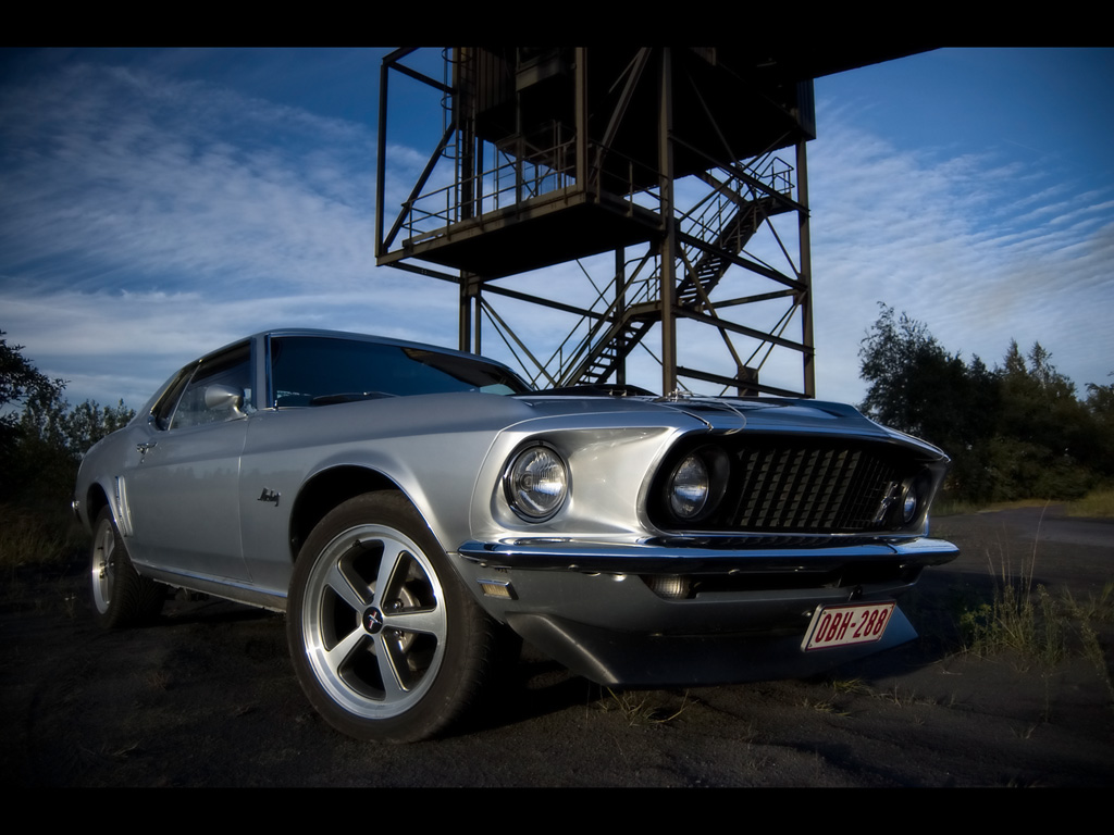1969 Ford Mustang Hardtop   Tower   1024x768   Wallpaper 1024x768