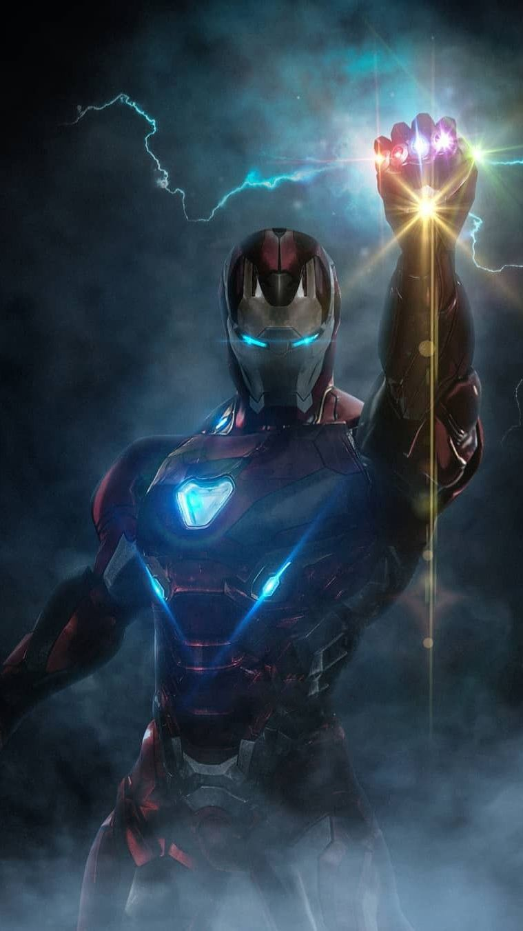 Infinity Stones Iron Man Armor iPhone Wallpaper iPhone 759x1350