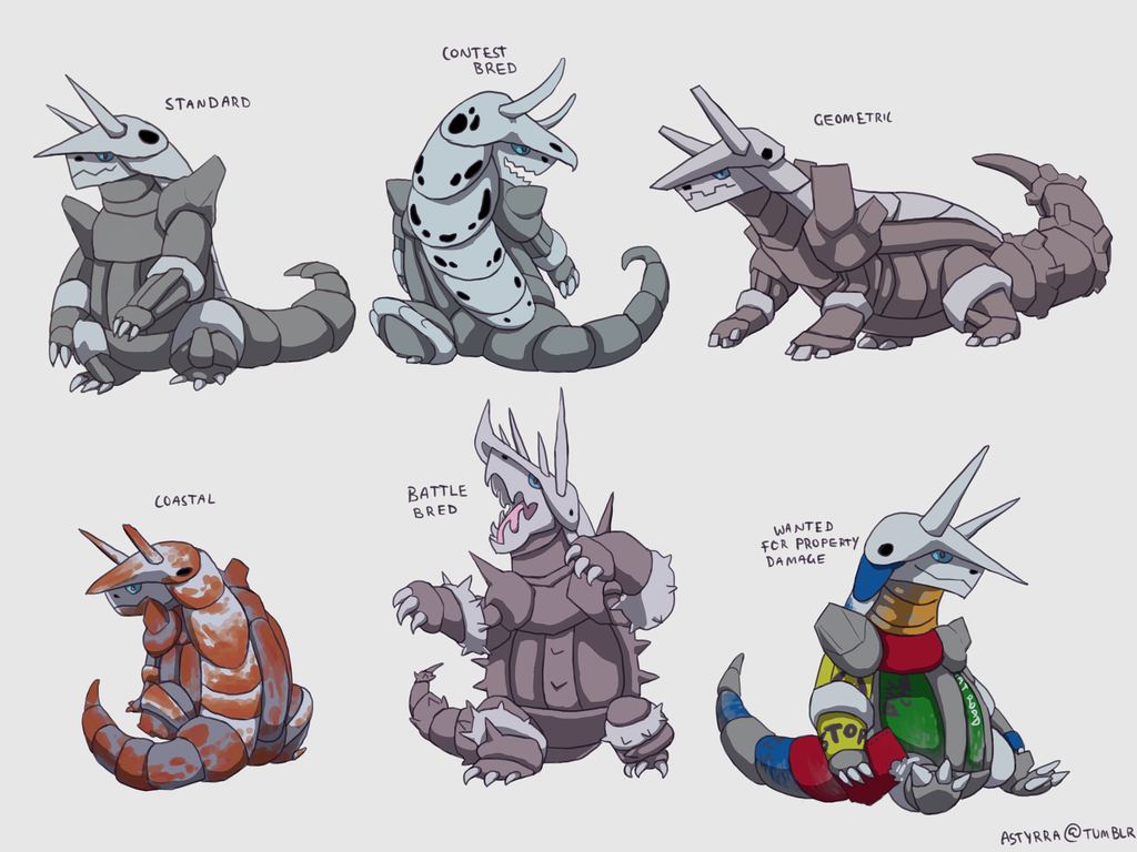 Aggron Variations by NimbusOwl49 1024x768