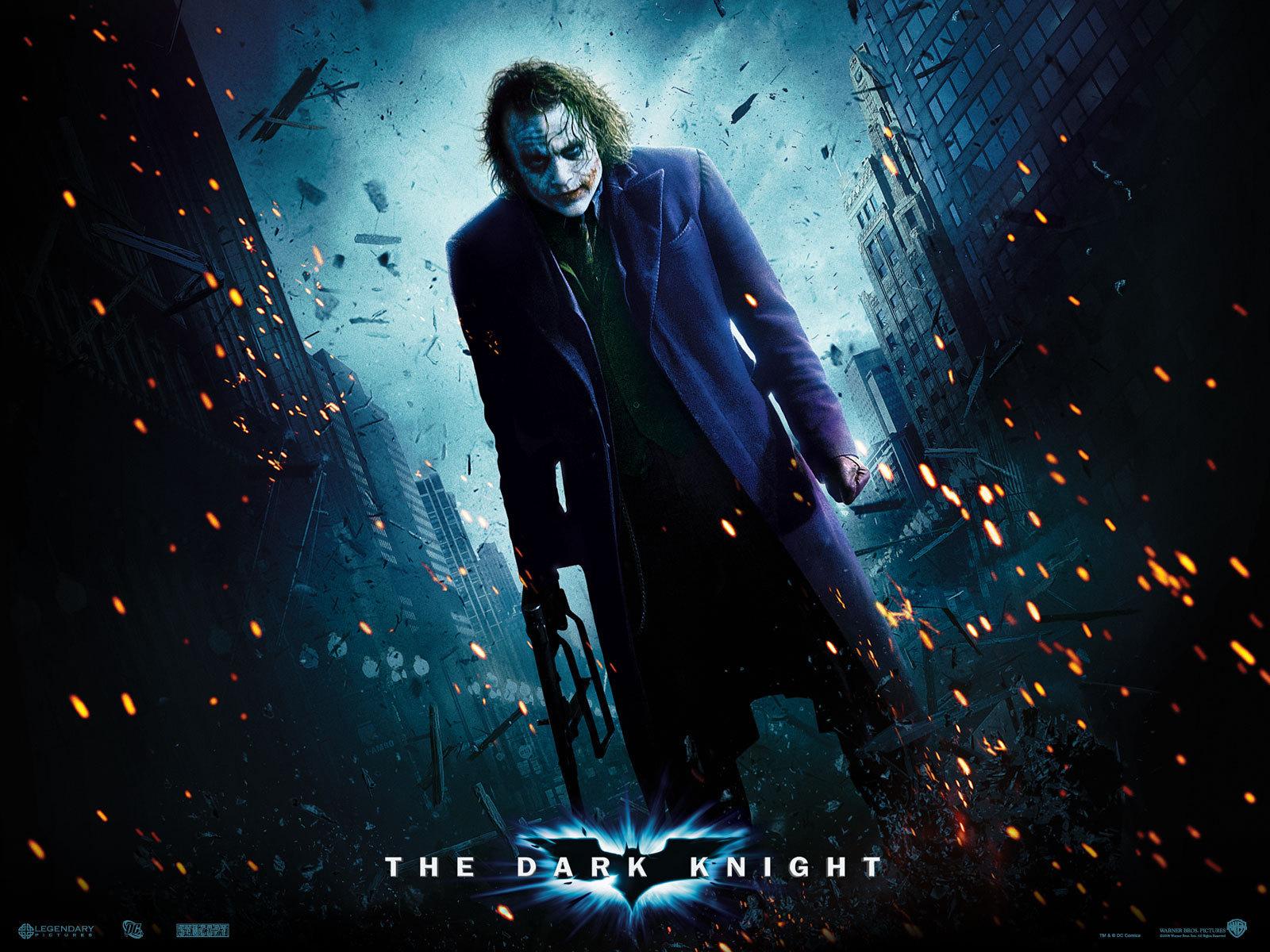 Heath Ledger as The Joker   Gotham City Wallpaper 9970933 1600x1200