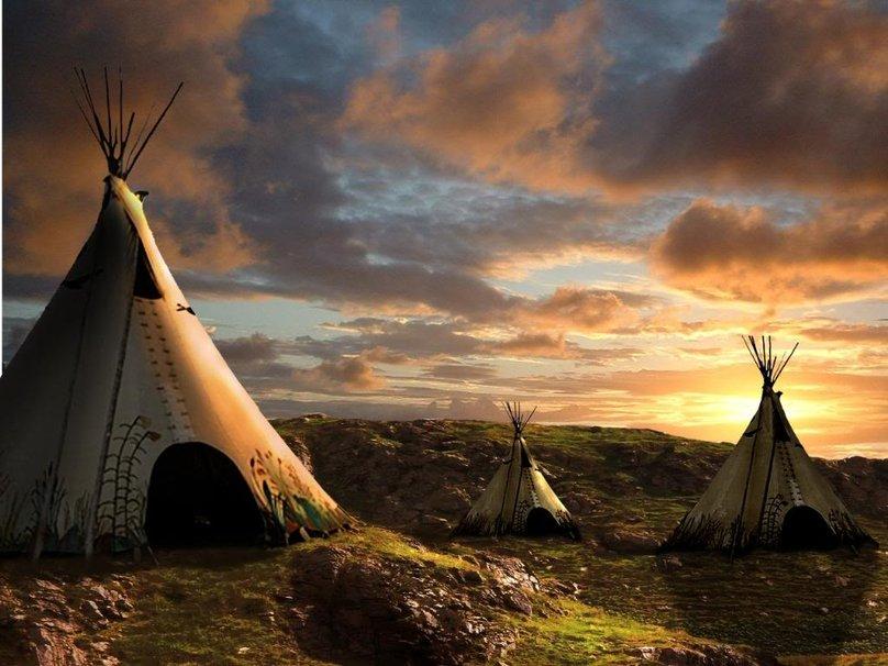 Native American Teepee wallpaper   ForWallpapercom 808x606