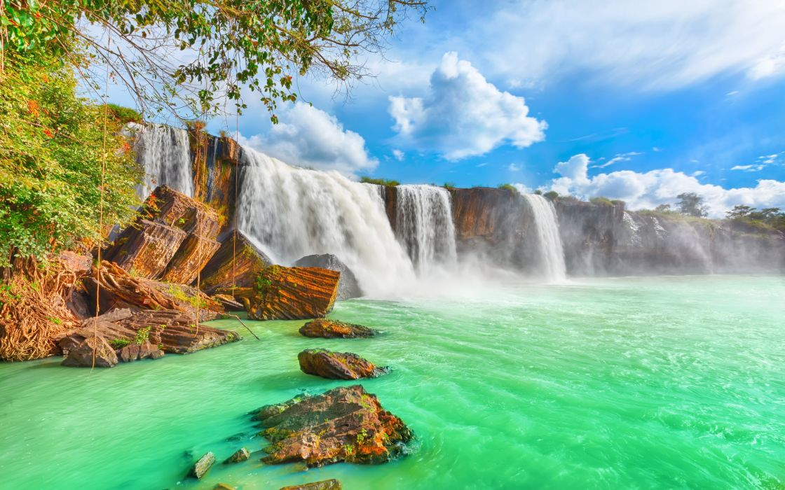 Rio cataratas aguas verdes naturaleza wallpaper 5200x3250 1120x700