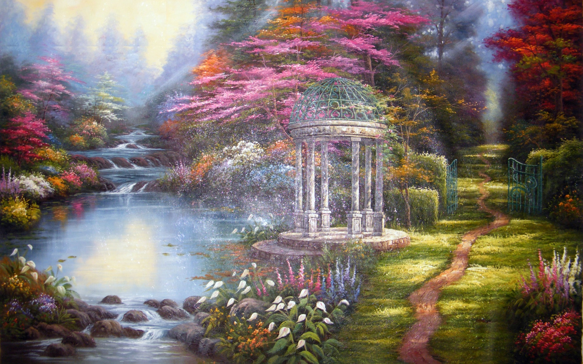 kinkade summer wallpaper drawing - photo #12
