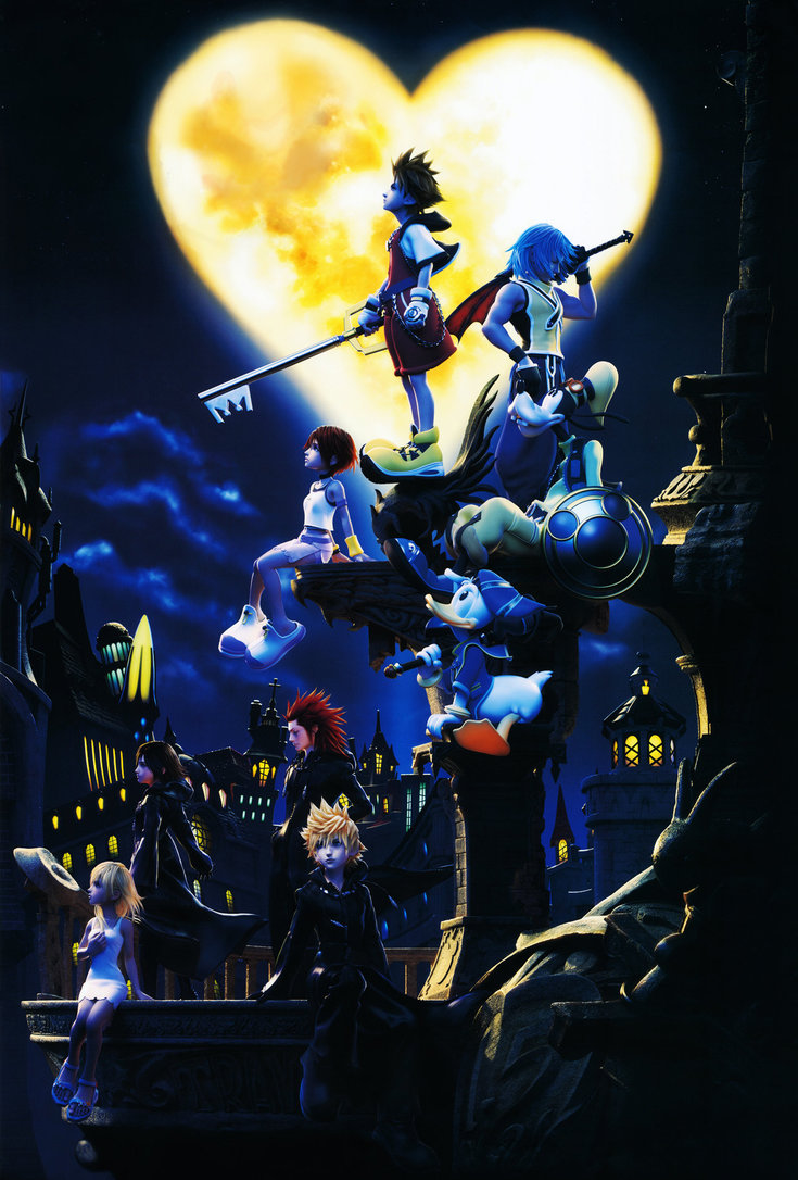 Kingdom Hearts HD CG Wallpaper by DanChaos1 735x1086