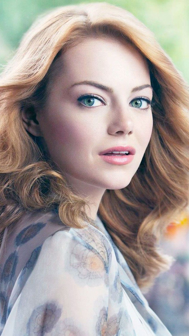 Emma Stone Long Hair Wallpaper   iPhone Wallpapers 640x1136