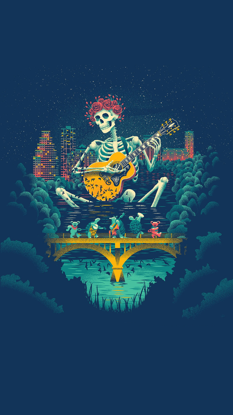Made an iPhone Wallpaper from the Texas poster gratefuldead 750x1334