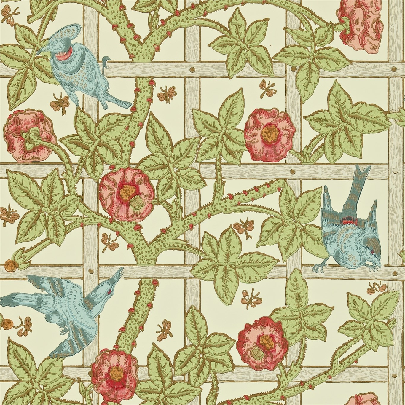 and Wallpapers Trellis DMCW210487 Morris Wallpaper Compendium II 1366x1366