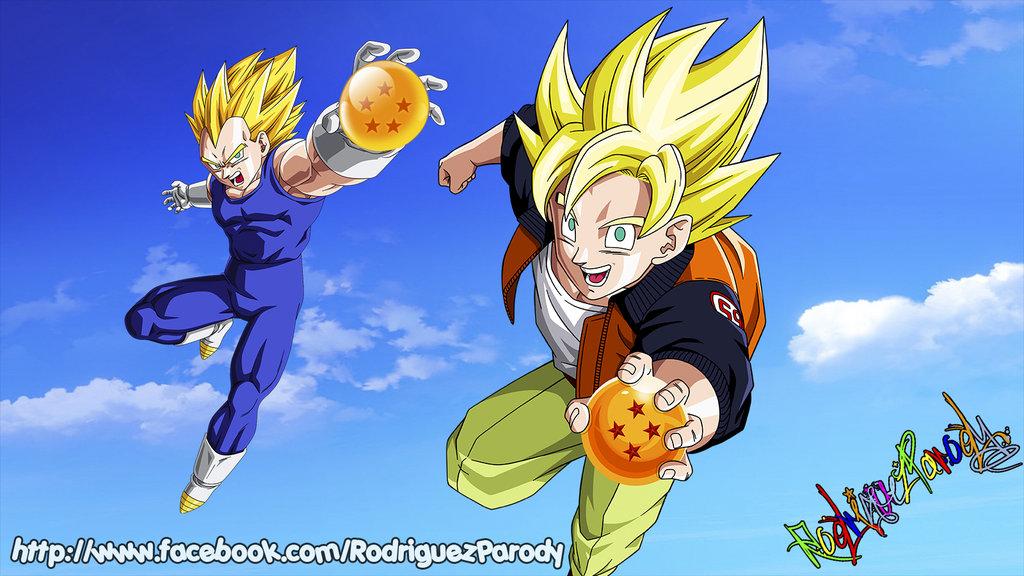 Goku And Vegeta Wallpaper Goku y vegeta wallpaper by 1024x576