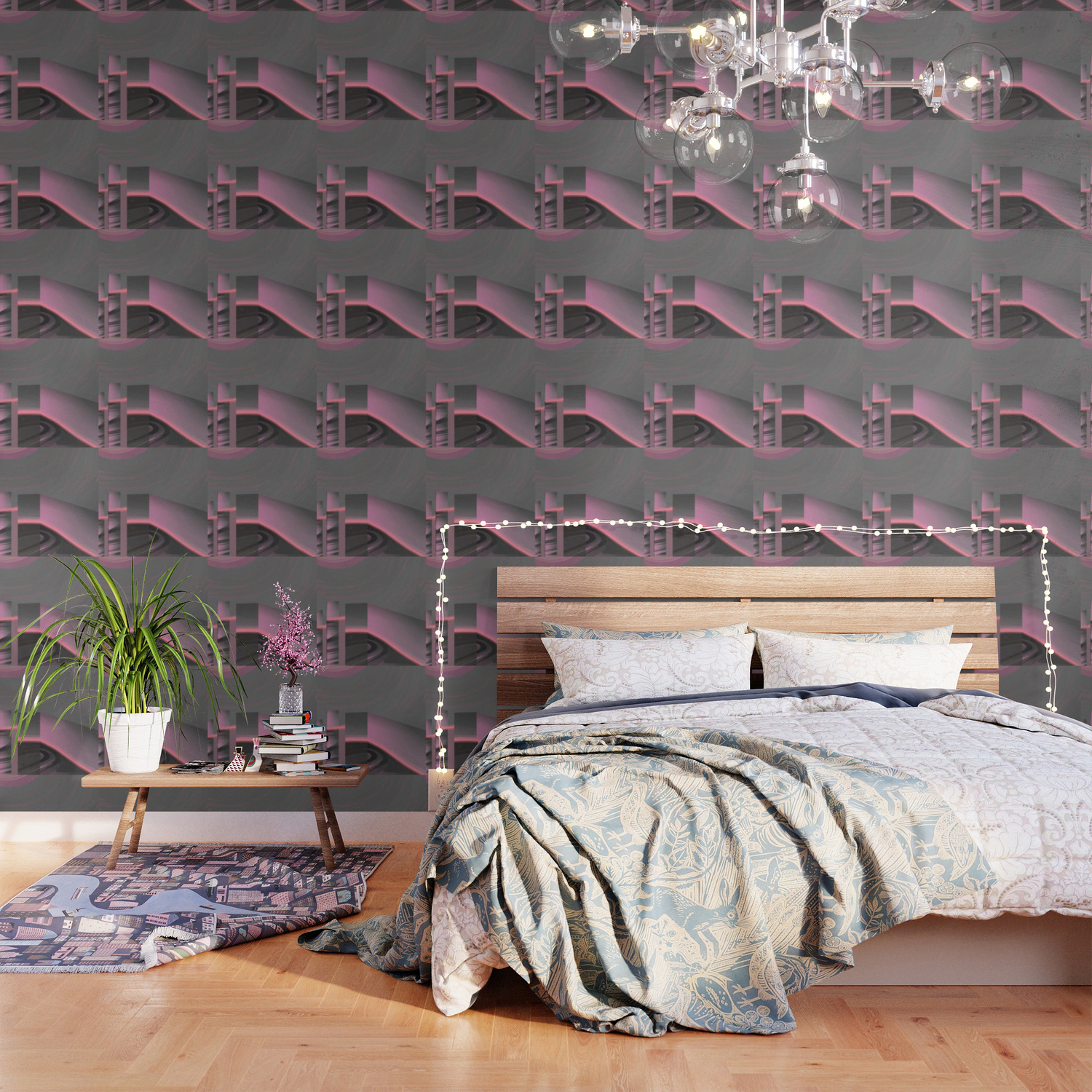 Claraboya Geodesic Habitacle Pink neon room Wallpaper by 1500x1500