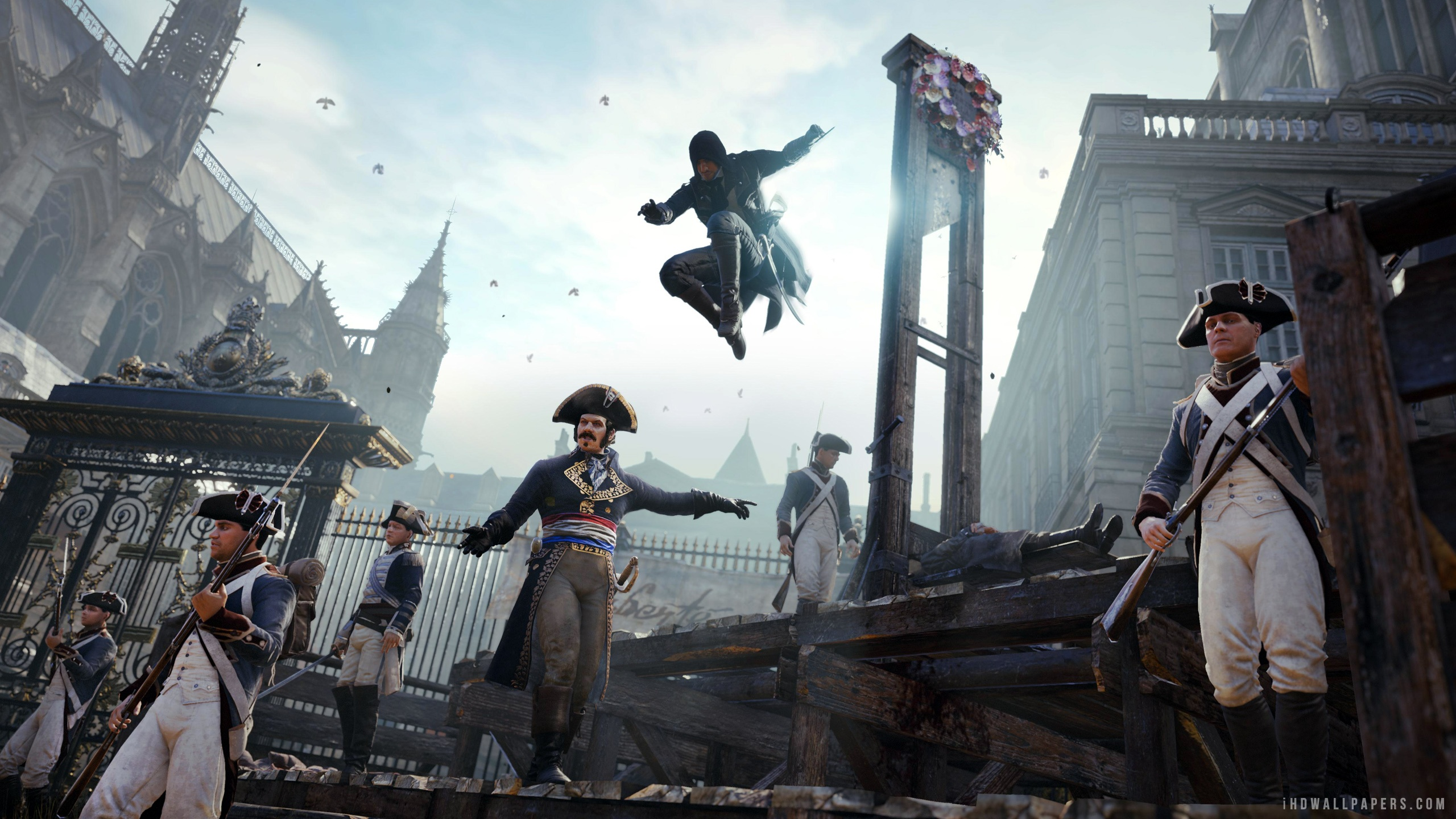 Assassins Creed Unity Action Play HD Wallpaper   iHD Wallpapers 2560x1440
