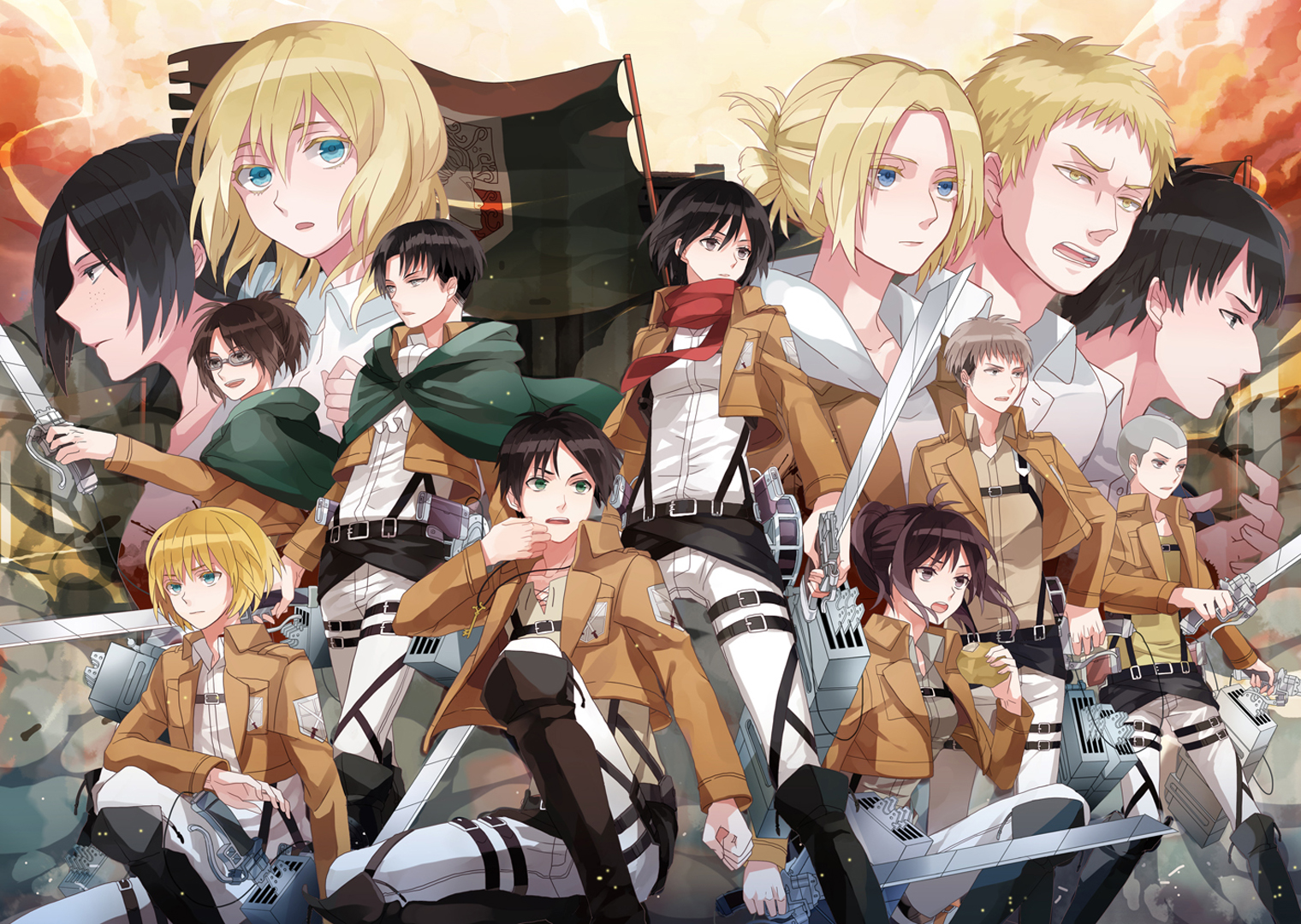 Levi Armin Annie Leonhard Sasha Braus HD Wallpaper Backgrounds f9 1520x1080
