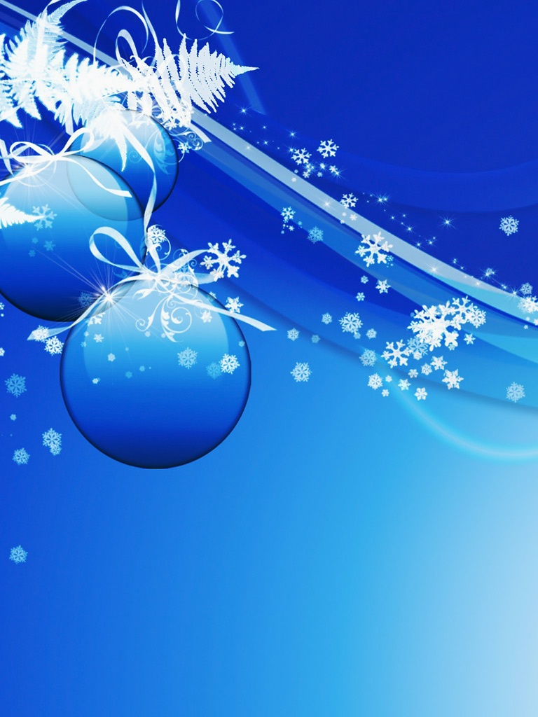 Free Download Holidays Blue Christmas Magic Ipad Iphone Hd
