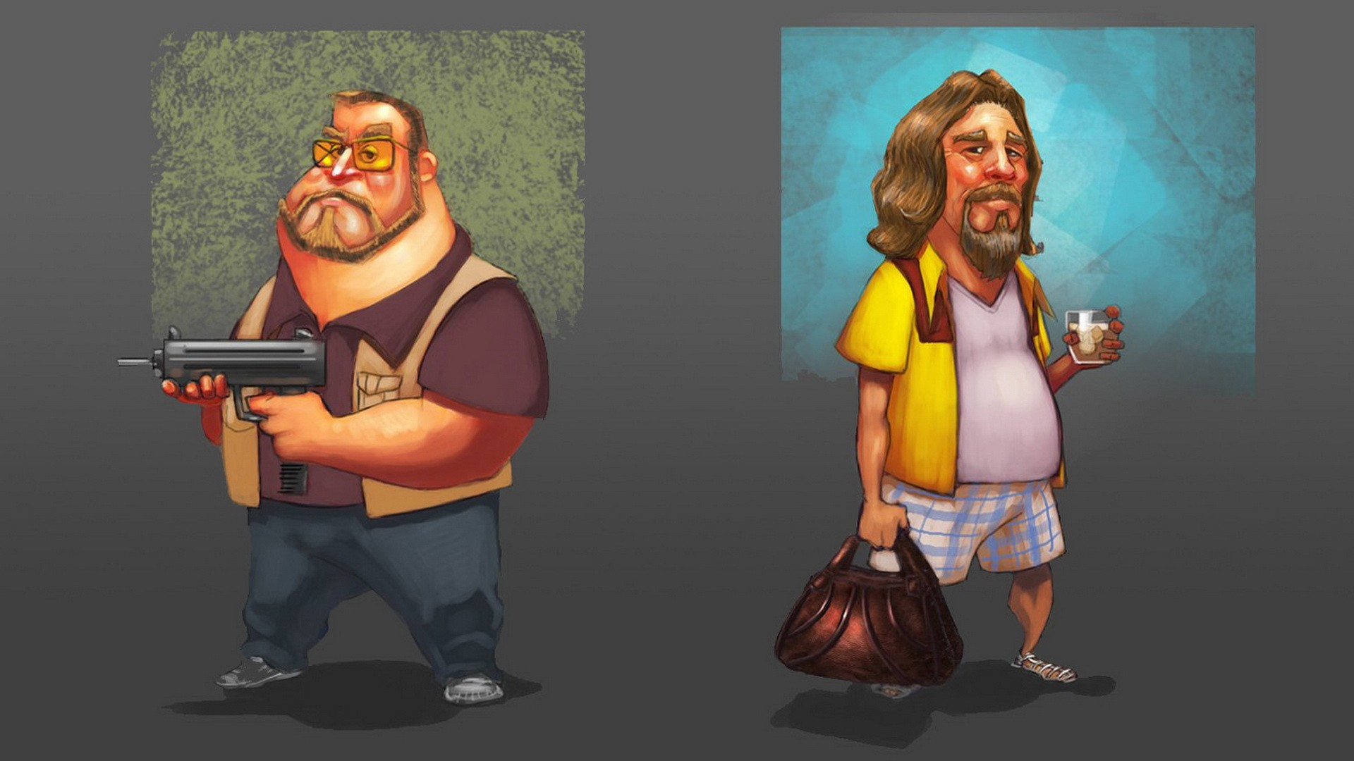 Wallpapers movies The Dude The Big Lebowski Walter Sobchak 1920x1080