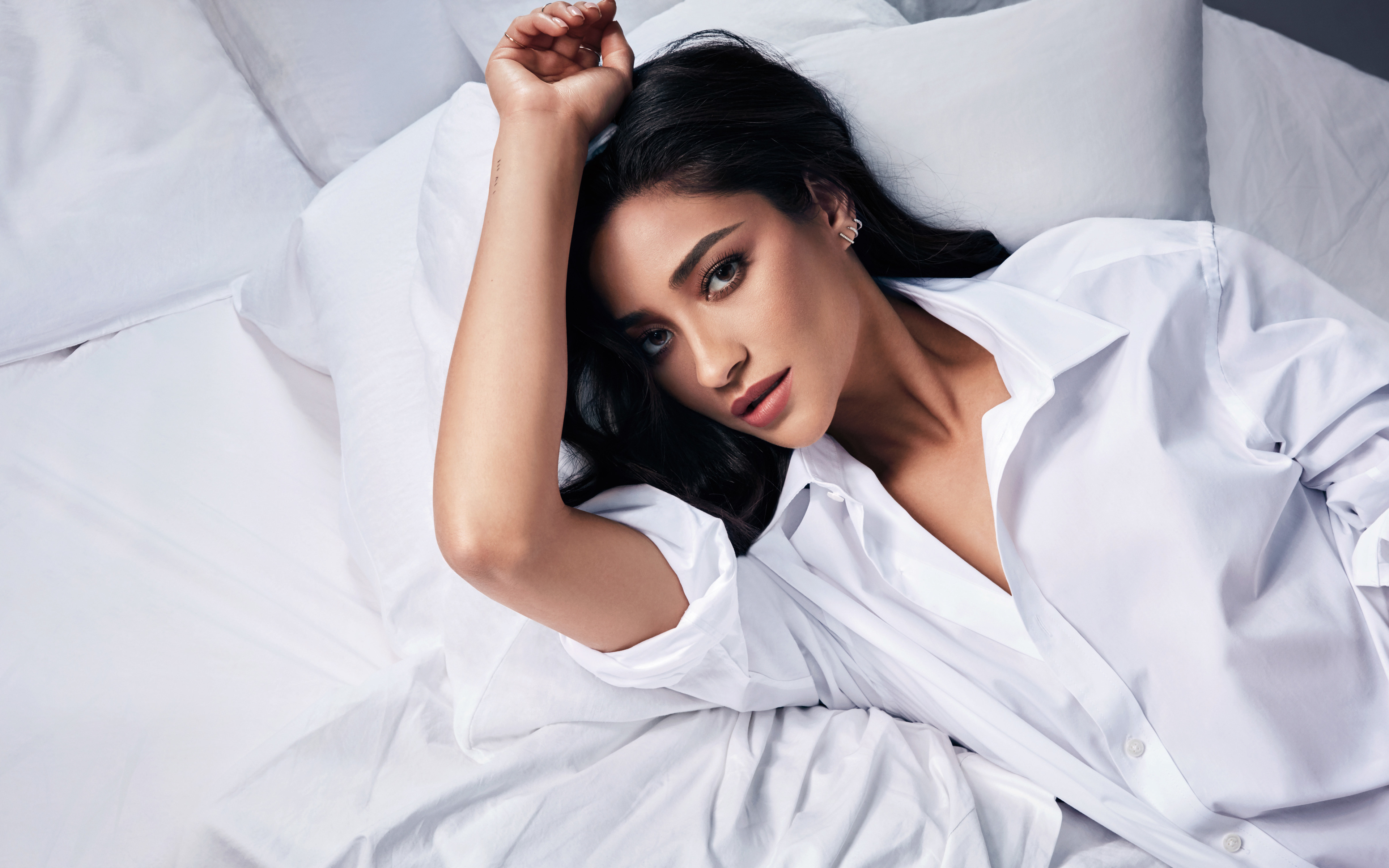 Download wallpapers Shay Mitchell 4k Buxom Cosmetics photoshoot 3840x2400