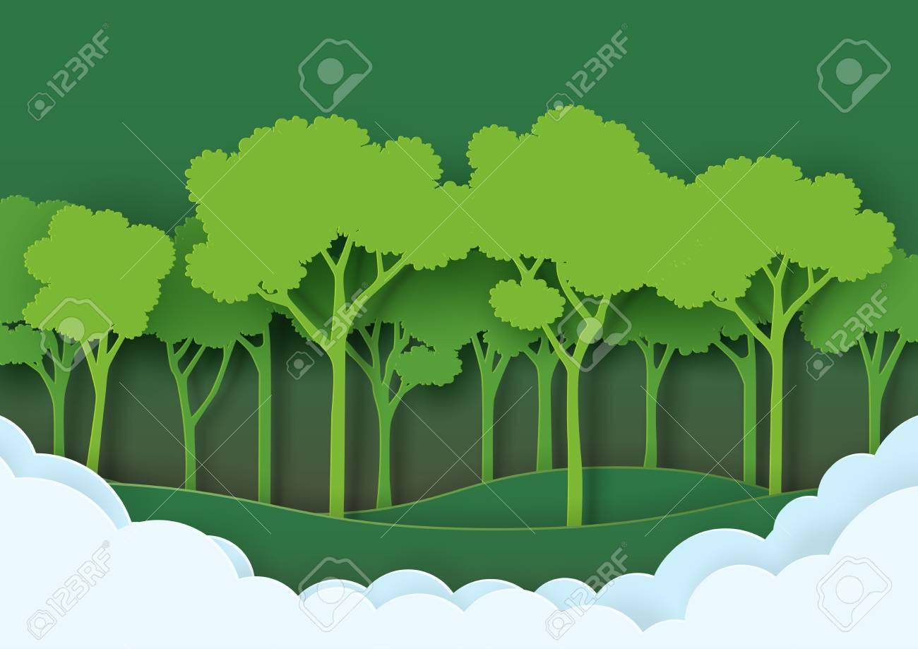 Eco Green Nature Forest Background TemplateSave The World With 1300x919