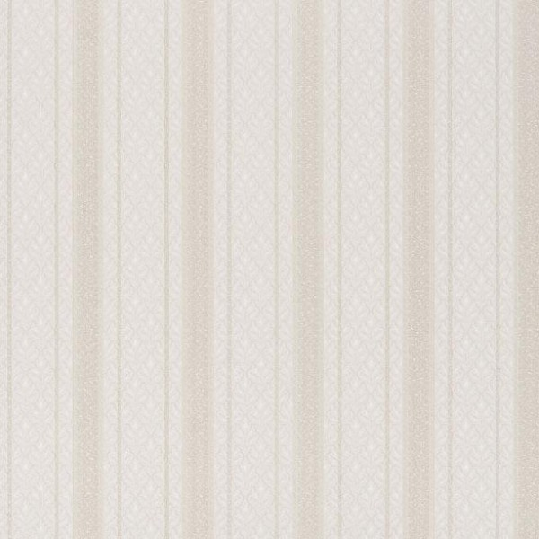 OTTAVIA WHITE BROCADE STRIPE Wallpaper Warehouse 600x600