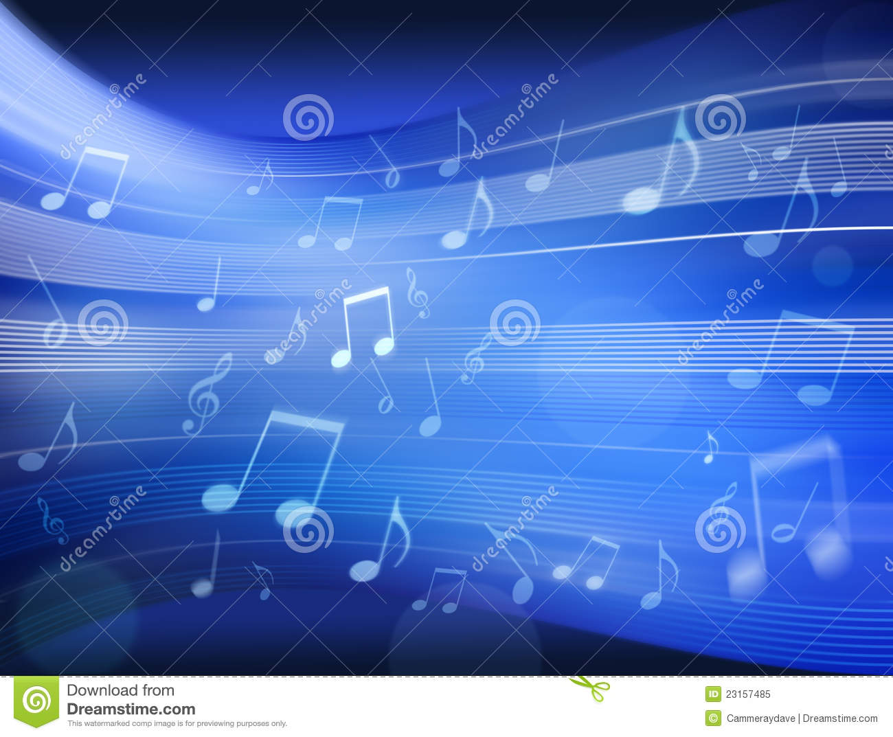 Music Background Images: Blue Music Notes Wallpaper