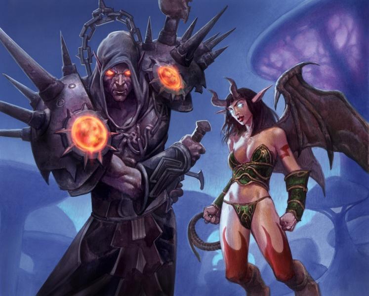 World Of Warcraft Warlock Wallpaper World of warcraft art gallery 747x600