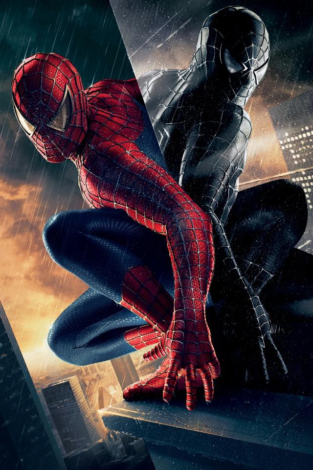 Spider Man Rain iPhone 4 Wallpaper and iPhone 4S Wallpaper 640x960