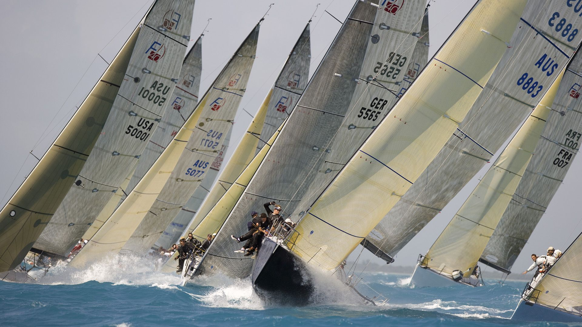 Regatta sailing race racing boat wallpaper | 1920x1080 | 128417 ...